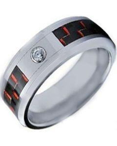 COI Titanium Carbon Fiber Ring With Cubic Zirconia - 1140