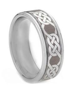 COI Tungsten Carbide Celtic Step Edges Ring - TG1434
