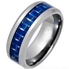 COI Titanium Carbon Fiber Beveled Edges Ring - JT1450AA