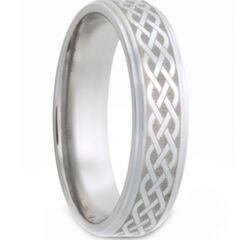 COI Titanium Celtic Step Edges Ring - JT1558