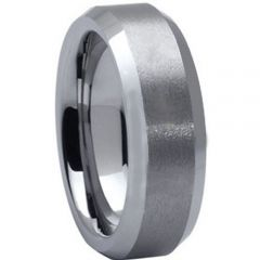 COI Tungsten Carbide Beveled Edges Ring - TG1638