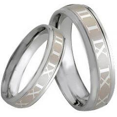 COI Tungsten Carbide Ring With Roman Numerals - TG164