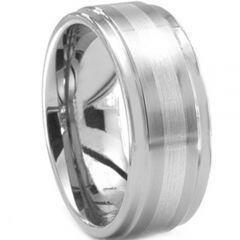 COI Tungsten Carbide Center Line Step Edges Ring-TG171