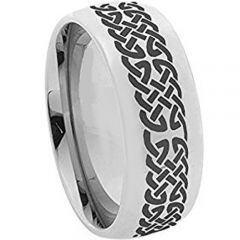 COI Titanium Celtic Dome Court Wedding Band Ring - 2366