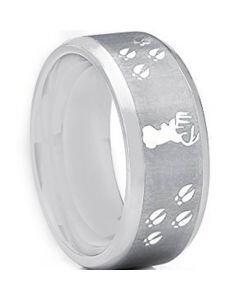 COI Tungsten Carbide Deer Head & Track Ring - TG2445AA