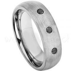 COI Tungsten Carbide Ring With Genuine Diamond - 2621