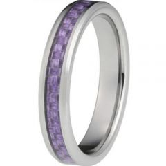 COI Titanium Pipe Cut Flat Ring With Carbon Fiber - JT2325AA