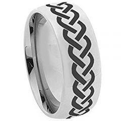 COI Titanium Celtic Dome Court Ring - JT3133AA