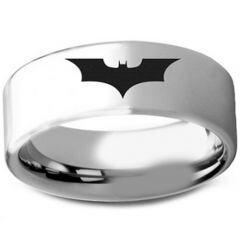 COI Tungsten Carbide BatMan Pipe Cut Flat Ring - TG3236AA