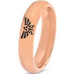 COI Rose Tungsten Carbide Legend of Zelda Dome Court Ring-3274