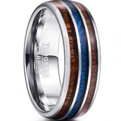 COI Tungsten Carbide Wood & Meteorite Ring - TG3343