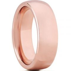 COI Rose Tungsten Carbide Dome Court Ring - TG3410