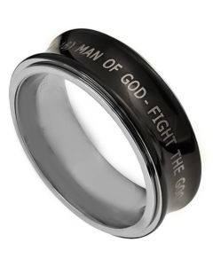 COI Tungsten Carbide Concave Ring With Custom Engraving-TG3383