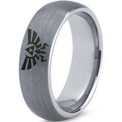 COI Tungsten Carbide Legend of Zelda Dome Court Ring-3487