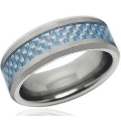COI Titanium Carbon Fiber Beveled Edges Ring - JT3514