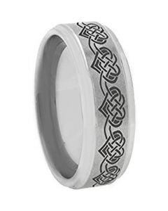 *COI Tungsten Carbide Heart Step Edges Ring - TG3641AA