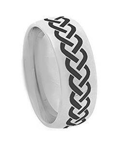 COI Tungsten Carbide Celtic Dome Court Ring - TG3644