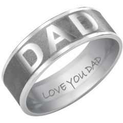 COI Tungsten Carbide Daddy Ring With Custom Engraving - TG3660