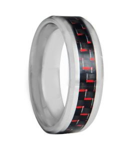COI Titanium Carbon Fiber Beveled Edges Ring - JT4122