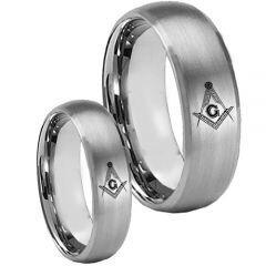 COI Titanium Masonic Beveled Edges Ring - 3750