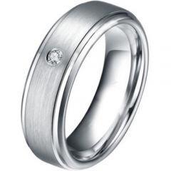 COI Tungsten Carbide Ring With Genuine Diamond - TG3877