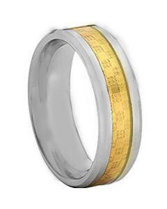 COI Tungsten Carbide Ring With Carbon Fiber - TG4202