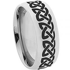 COI Tungsten Carbide Dome Court Celtic Ring - TG4280
