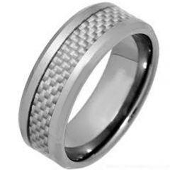 COI Titanium Carbon Fiber Beveled Edges Ring - JT3520