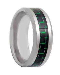 COI Tungsten Carbide Ring With Carbon Fiber - TG4318