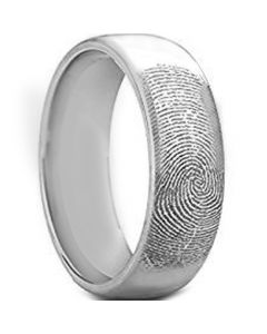 COI Tungsten Carbide Custom FingerPrint Ring-TG5130