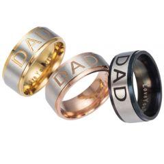 COI Tungsten Carbide Silver Black/Rose/Gold Daddy Ring-TG5249