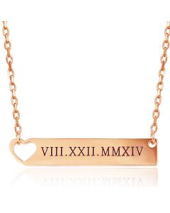 COI Rose Titanium Custom Name Pendant With Stainless Steel Chain-5268