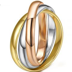 COI Titanium Rose Gold Tone Silver Ring-5297