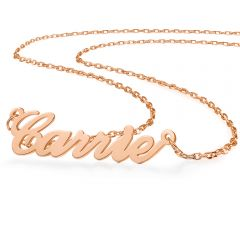 COI Rose Titanium Custom Name Pendant With Stainless Steel Necklace-5314