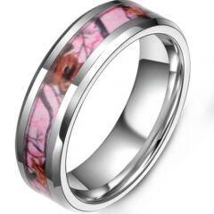COI Titanium Camo Beveled Edges Ring-5379
