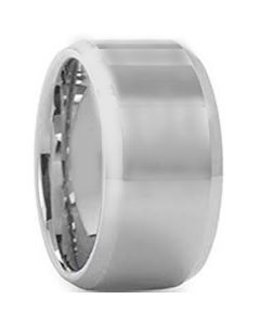 COI Tungsten Carbide 12mm Beveled Edges Ring-5430