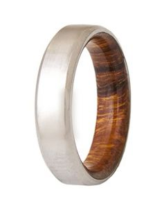 COI Tungsten Carbide Beveled Edges Ring With Wood-5466