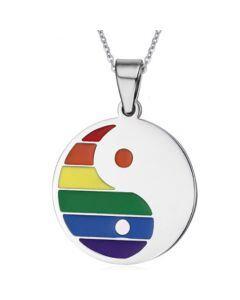 COI Titanium Rainbow Pride Pendant-5516