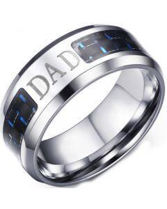 COI Titanium Daddy Beveled Edges Ring With Carbon Fiber-5692