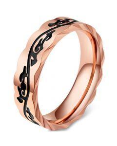 *COI Titanium Black Rose Celtic Ring-5832
