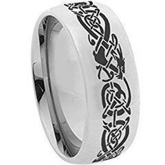 COI Tungsten Carbide Dome Court Dragon Ring - TG617