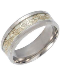 *COI Titanium Dragon Luminous Beveled Edges Ring-6841