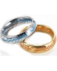 *COI Titanium Gold Tone/Silver Lord Of The Ring Luminous Ring-6876