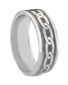 COI Tungsten Carbide Celtic Step Edges Ring - TG763AA