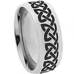 COI Titanium Celtic Dome Court Ring - JT951AA