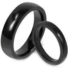*COI Black Titanium Dome Court Ring - JT1250AA