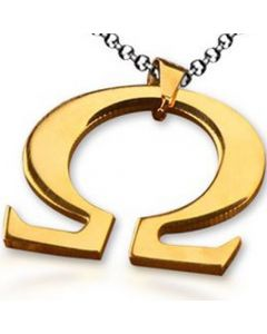 COI Gold Tone Titanium Omega Pendant - JT1417