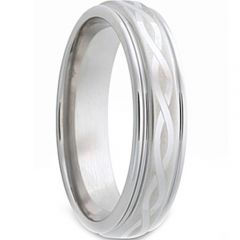 COI Titanium Infinity Step Edges Ring-JT1560
