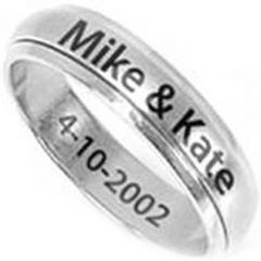 COI Titanium Step Edges Ring With Custom Engraving - JT2313