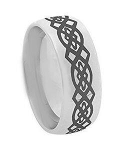 COI Tungsten Carbide Celtic Dome Court Ring - 3113